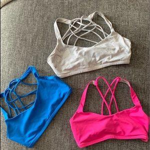 Used Lululemon size 6 sports bras.